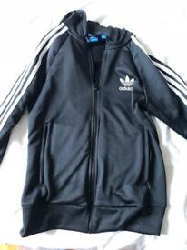 Adidas women's black tracksuit top size 10