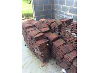 Concrete roof peg tiles. Free to collector