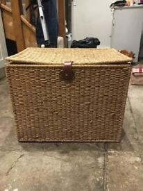 Foldable Wicker Basket