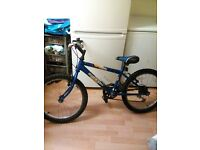 Boys mountin bike 20inch wheeles ,blue raleigh,good condition £25 ono call on 01213734675