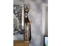 Wooden ornamental cat 39 inches