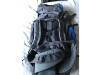 Mountain warehouse TOR65 rucksack and Traveller 20 sleeping bag. Unused
