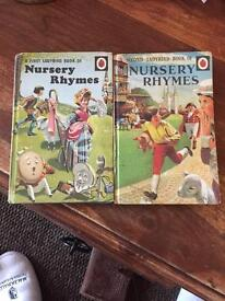 Ladybird Books - First (1965) & Second (1966) Book of Nursery Rhymes, Series 413