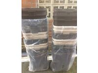 Job lot rattan effect washing laundry baskets excellent for car boot, 3 colours