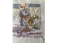 Completed cross stitch pictures