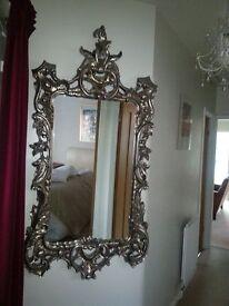 Large antique design mirror