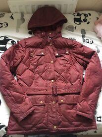 Ladies Barbour coat size 12 with detachable hood