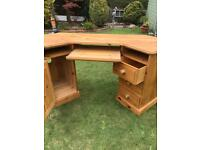 Solid pine desk (can deliver)