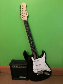Junior Rockburn Electric Guitar and 10w Amp