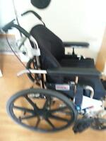 Manual tilt wheelchair for small adult or child