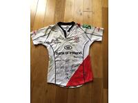 Ulster rugby match worn signed shirt