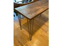 Rustic/Industrial Wooden Desk