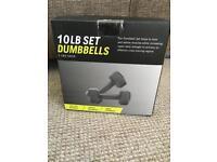10LB Dumbbells Brand New in Box