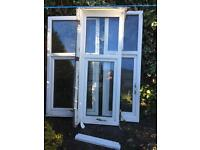 Three white upvc framed double glazed windows. About 3 years old. Very big; from Victorian house