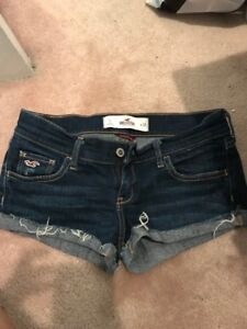 Hollister jean denim shorts size 1