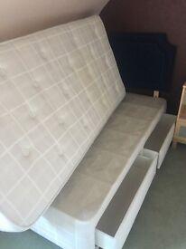Single Bed - Mattress - Drawer Base - Headboard