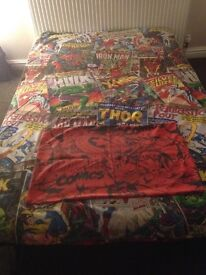 Marvel single bed cover
