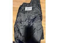 Waterproof motorbike pull over trousers