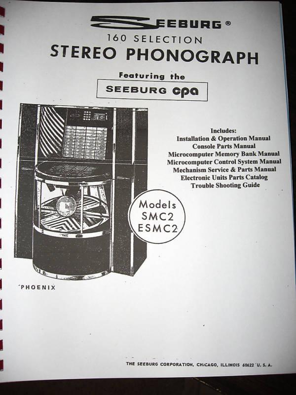 Seeburg Model SMC2 - ESMC2 Phoenix Jukebox Manual