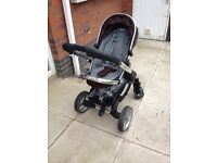Icandy peach (black jack) with Maxi cosi car seat and Adaptors