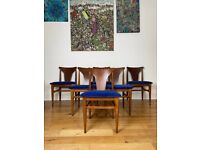 Mid Century Set of Six Teak Dining Chairs by Elliots of Newbury FREE LOCAL DELIVERY