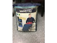 WHEELCHAIR COSY BAGGED BLUE MOBILITY LEG COVER
