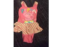 Peppa pig swimming costume age 2-3