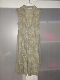 Green flower dress size S