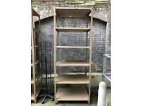 Heavy duty vintage gold racking / shelving perfect for display