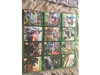 Xbox one console and 12 games