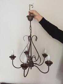 Metal Brown/Copper Finish Ceiling Light
