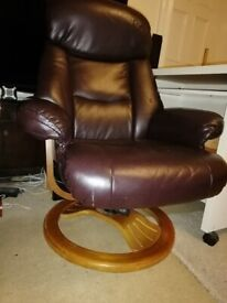 Brown York Bonded Leather chair