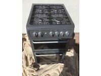 Gas cooker, Hotpoint, 50cm, Graphite grey