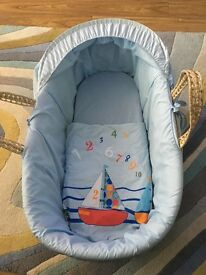 Boys Moses basket and stand