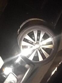 VW GOLF GTD 2012 ALLOY WHEELS