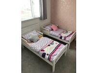 2 x toddler beds with hardly used mattress