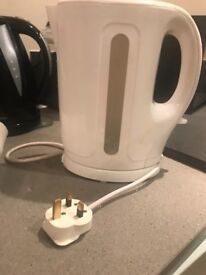 White plastic kettle