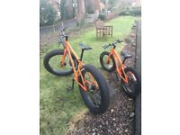 Matching Pair of Adult/Child Genesis Caribou Fat Bikes - perfect for family beach fun!