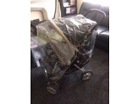 Pushchair with rain cover for sale