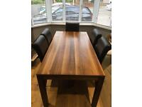 John Lewis dining table & 8 leather chairs
