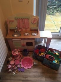 Elc Wooden Cottage Kitchen & Accessories