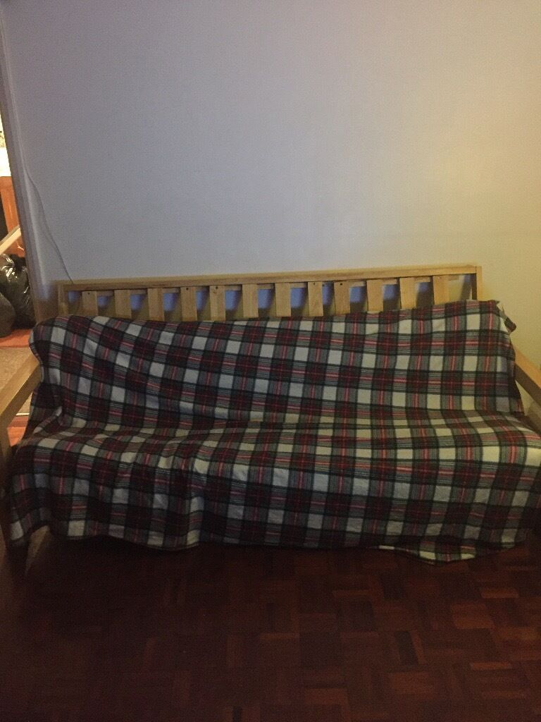 Futon sofain Southwark, LondonGumtree - Futon sofa which can pull out into a bed. Futon mattress could do with changing, however the frame is made of solid wood mechanism works well. Price is negotiable. Collection only. Please text or email if interested