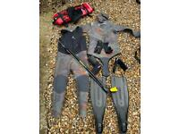 Spear dive wet suit set