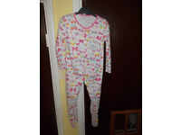 GIRLS BUTTERFLY SLEEPSUIT 18-24 MONTHS