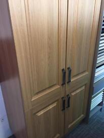 Ex display kitchen larder units oak