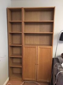 IKEA book shelves, cupboard, cabinet x2, sell together or separate