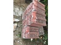 Concrete double Roman roof tiles 70+ and 9 ridge tiles