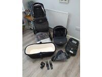 Silvercross Pioneer Travel System + Car seat + ISOFIX Base