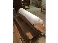 used but very good condition quality laminate approx 20 sq metres including 2 rolls of underlay