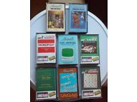 COMPUTER GAMES ON CASSETTE FOR AMSTRAD COMPUTERS CPC464 664 6128. ALSO SCHNEIDER COMPUTERS.